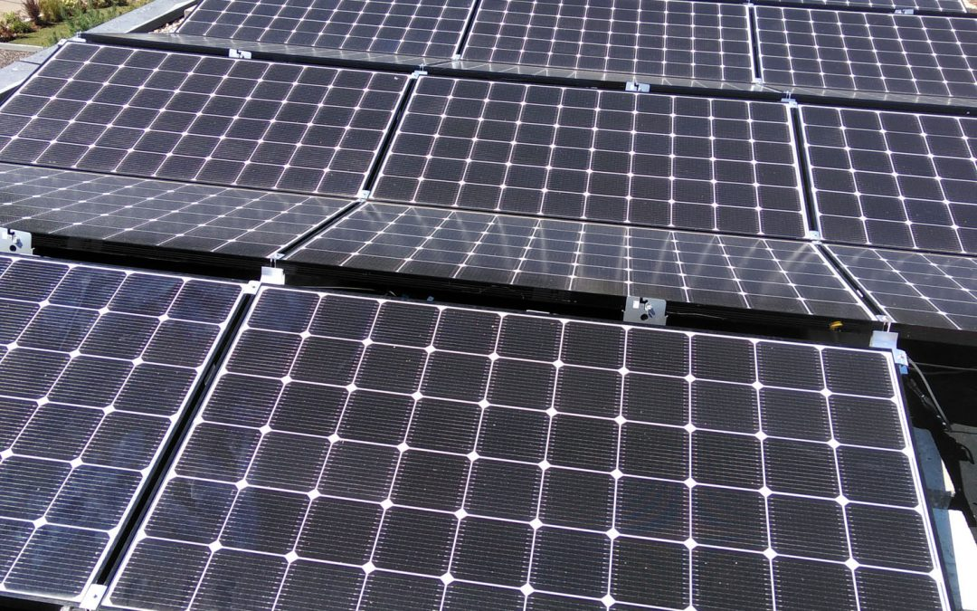 Photovoltaik auf Flachdach 2018 Privat Nürtingen
